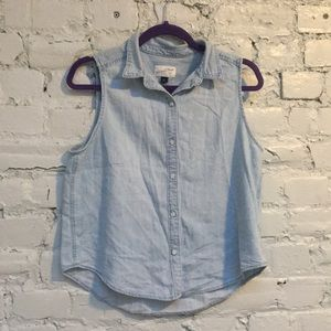 Chambray Button-up Tank